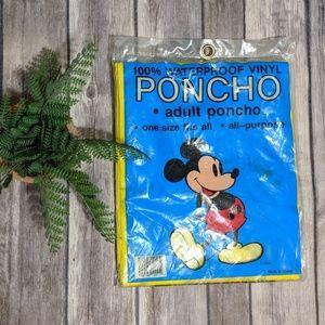 ✨Vintage Classic Mickey Mouse Yellow Rain Poncho